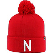 Top of the World Men's Nebraska Cornhuskers Scarlet Pom Knit Beanie