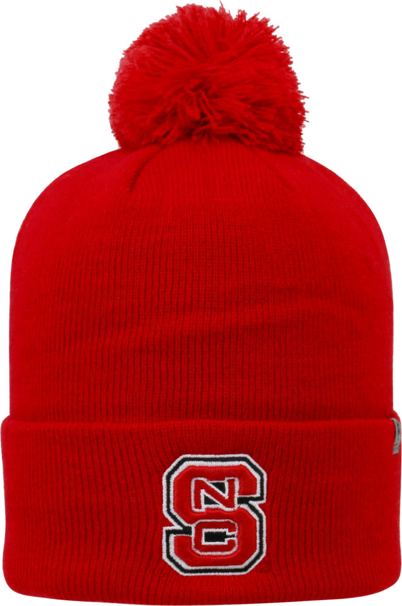 20984f2a0b2 ... usa top of the world mens nc state wolfpack red pom knit beanie 3c249  5c8c9