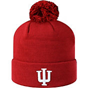 Top of the World Men's Indiana Hoosiers Crimson Pom Knit Beanie
