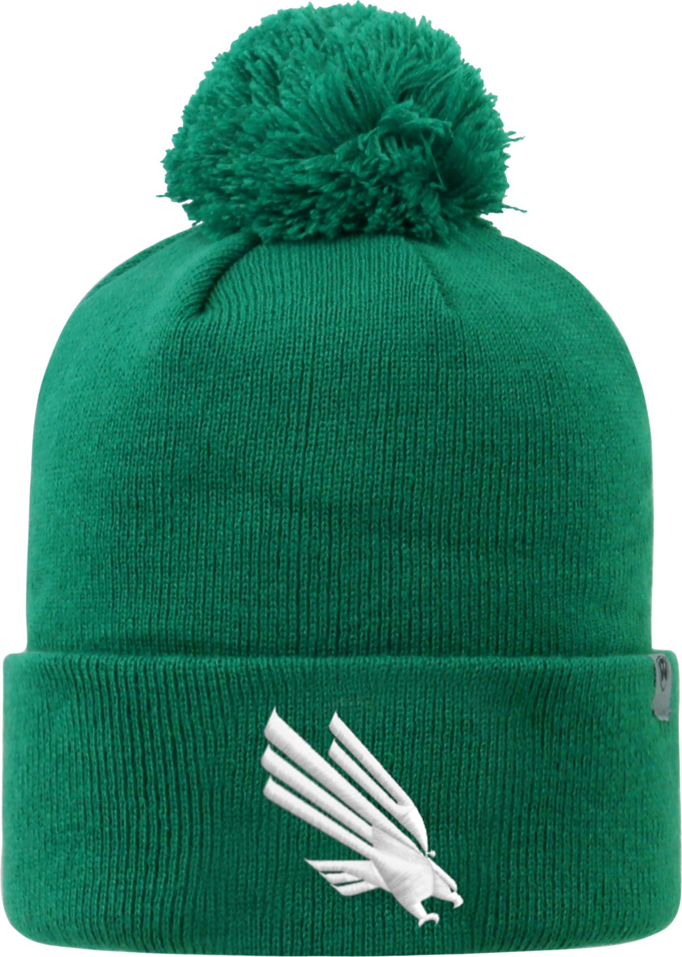 Top of the World Men's North Texas Mean Green Green Pom Knit Beanie