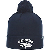 Top of the World Men's Nevada Wolf Pack Blue Pom Knit Beanie