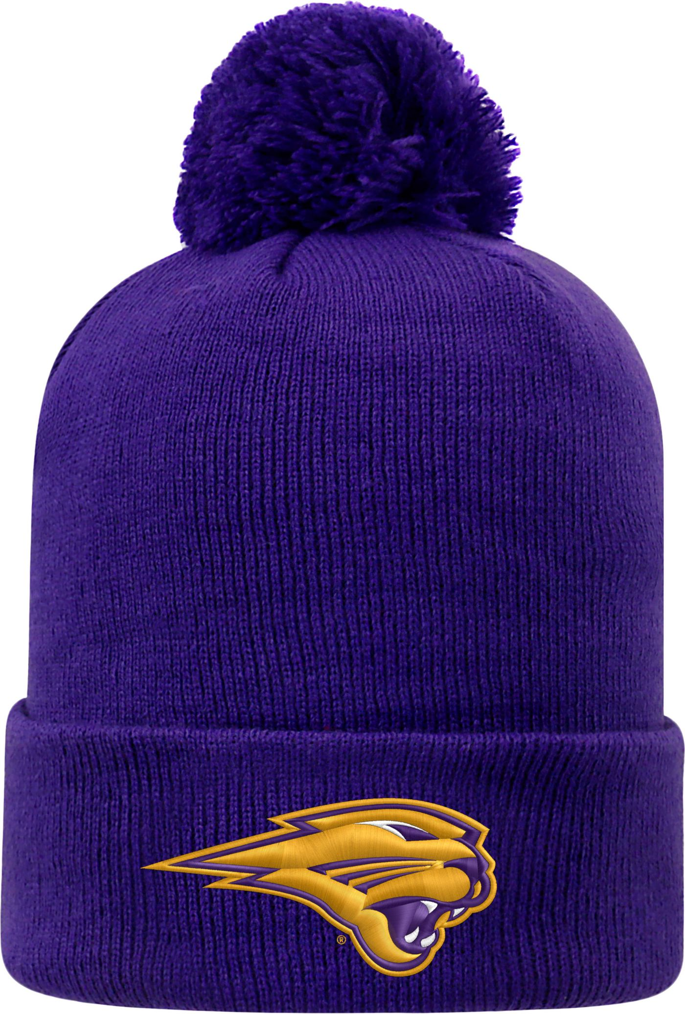 Top of the World Men's Northern Iowa Panthers  Purple Pom Knit Beanie