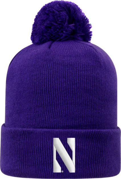 new product f7ffc 6aa6d ... discount top of the world mens northwestern wildcats purple pom knit  beanie 8be08 87ec7