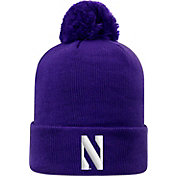 Top of the World Men's Northwestern Wildcats Purple Pom Knit Beanie