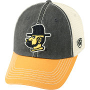 Top of the World Men's Appalachian State Mountaineers Black/White/Gold Off Road Adjustable Hat