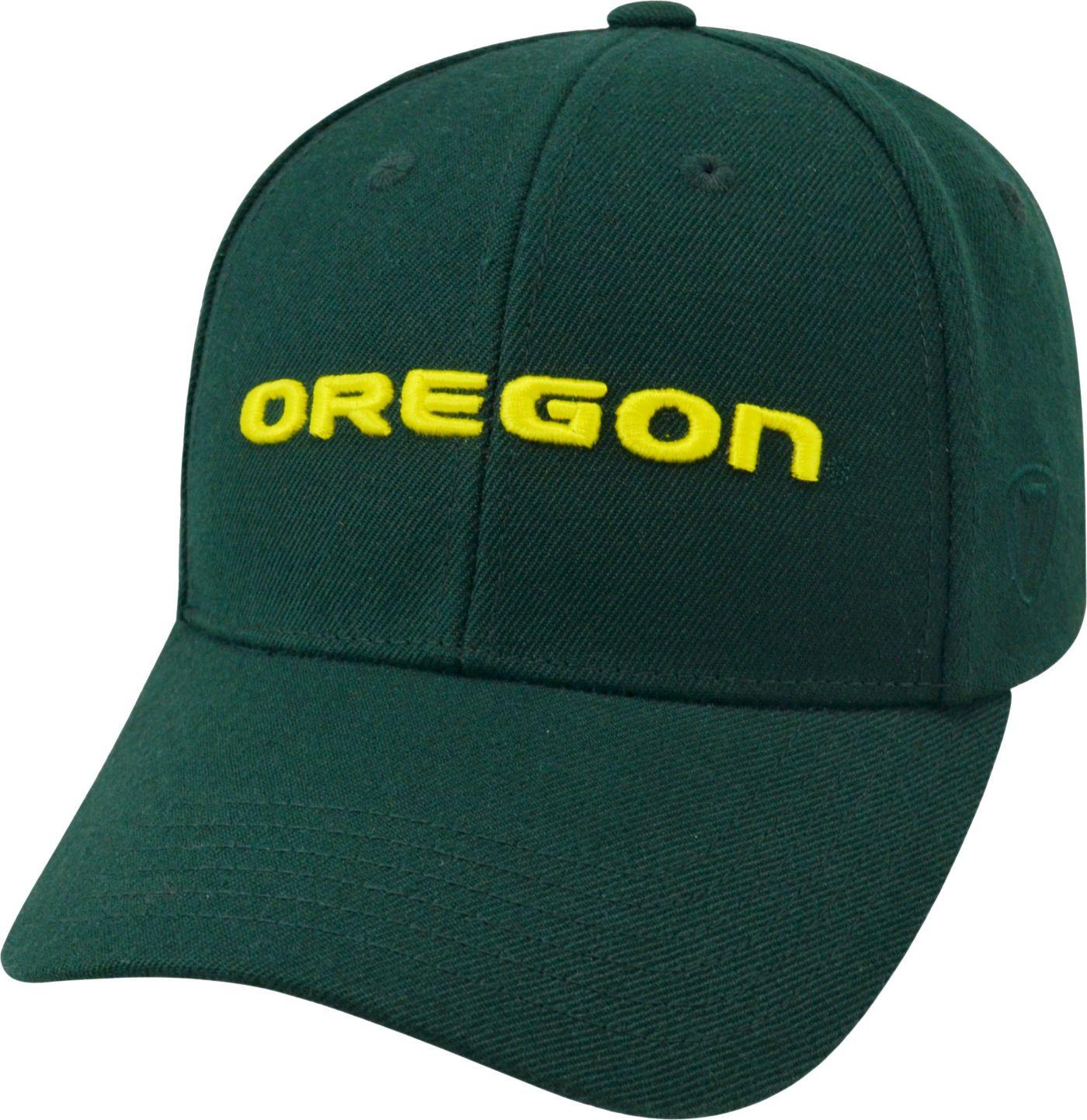 Top of the World Men's Oregon Ducks Green Premium Collection Adjustable Hat