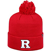 Top of the World Men's Rutgers Scarlet Knights Scarlet Pom Knit Beanie