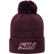 Top of the World Men's Southern Illinois  Salukis Maroon Pom Knit Beanie