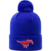 Top of the World Men's Southern Methodist Mustangs Blue Pom Knit Beanie