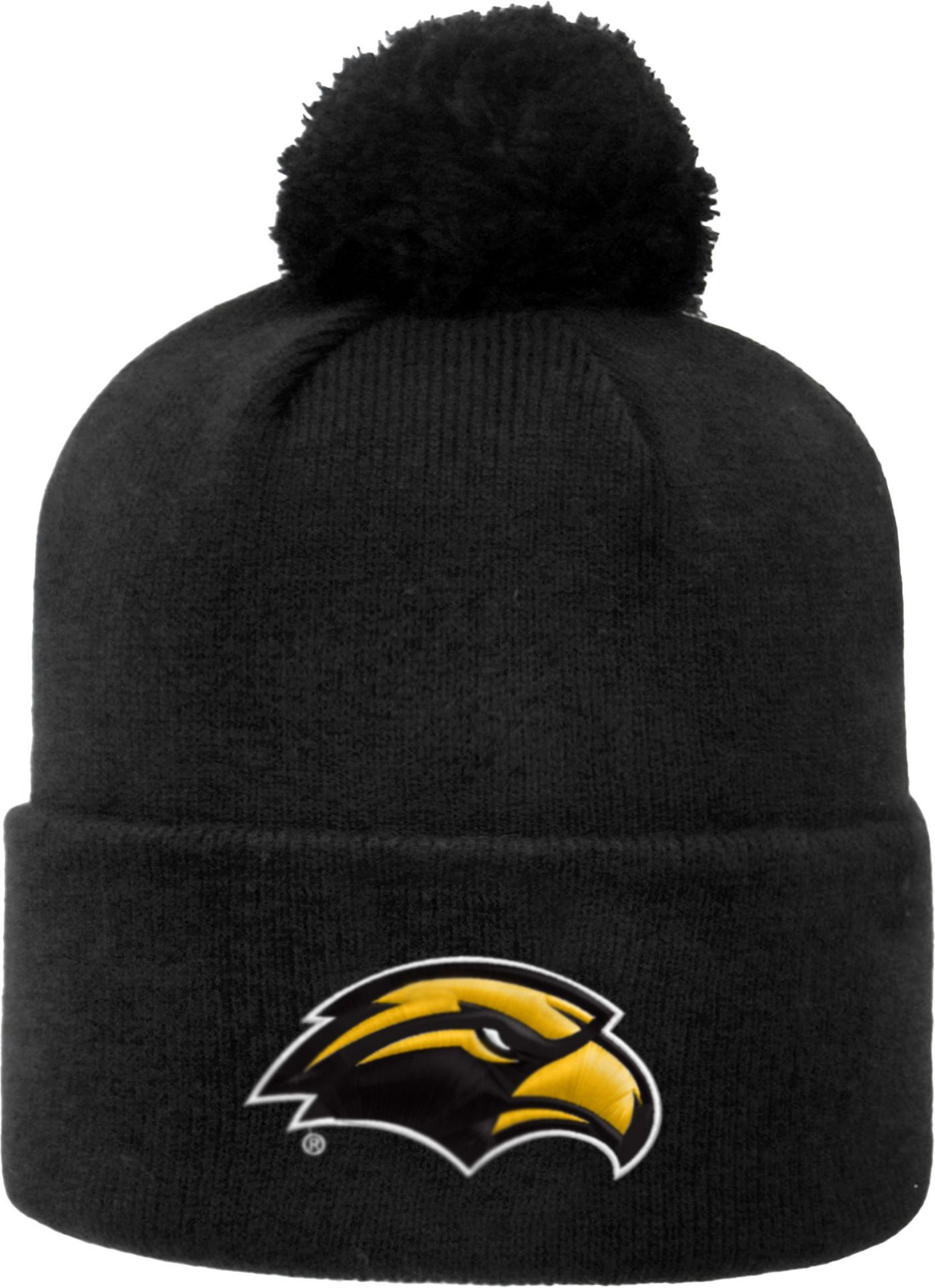 Top of the World Men's Southern Miss Golden Eagles Black Pom Knit Beanie