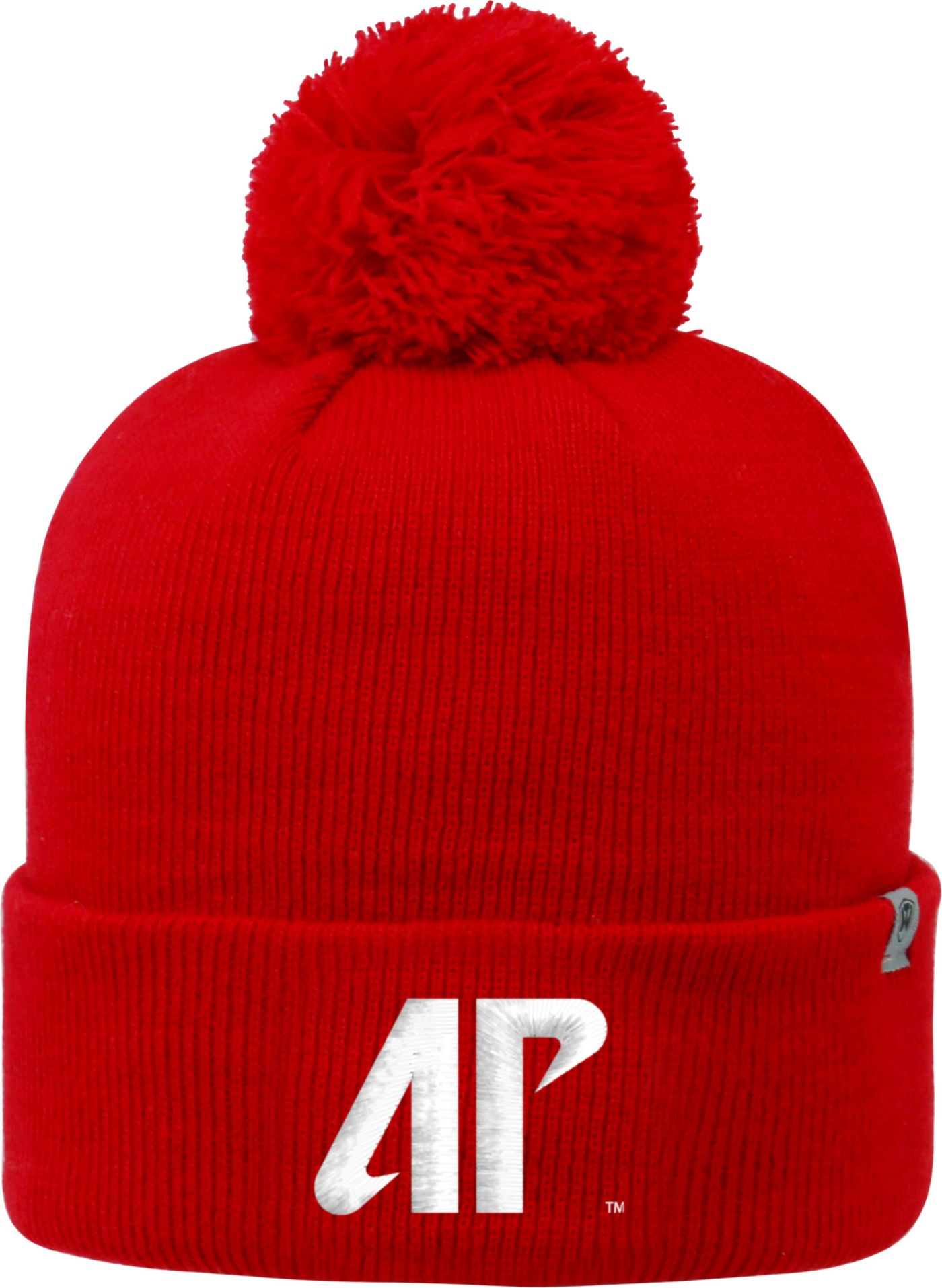 Top of the World Men's Austin Peay Governors Red Pom Knit Beanie