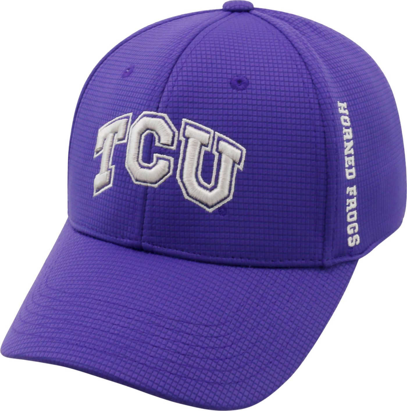 Top of the World Men's TCU Horned Frogs Purple Booster Plus 1Fit Flex Hat