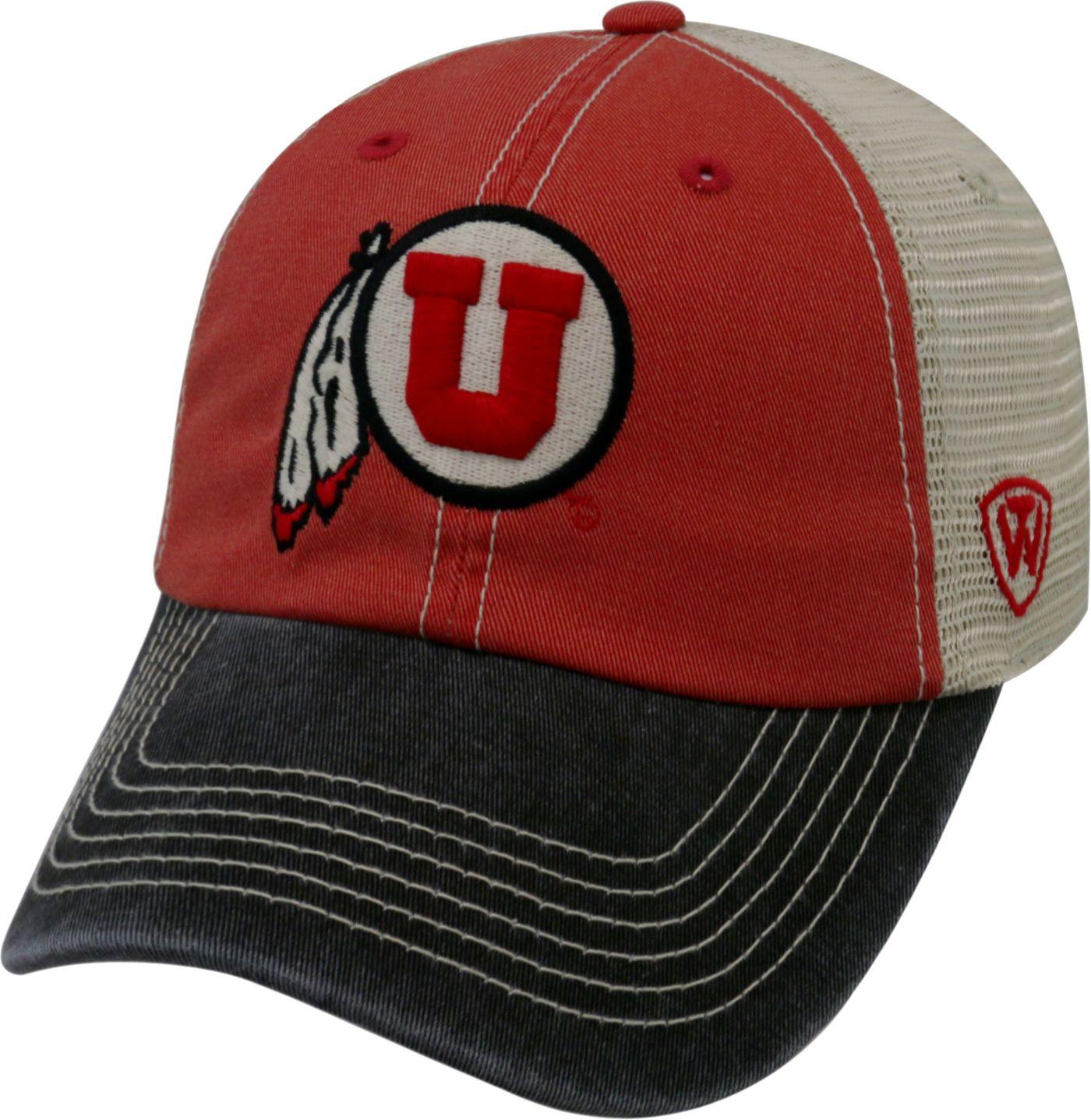 Top of the World Men's Utah Utes Crimson/White/Black Off Road Adjustable Hat