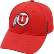Top of the World Men's Utah Utes Crimson Booster Plus 1Fit Flex Hat