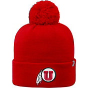 Top of the World Men's Utah Utes Crimson Pom Knit Beanie
