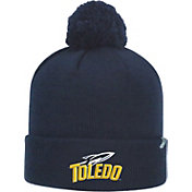 Top of the World Men's Toledo Rockets Midnight Blue Pom Knit Beanie