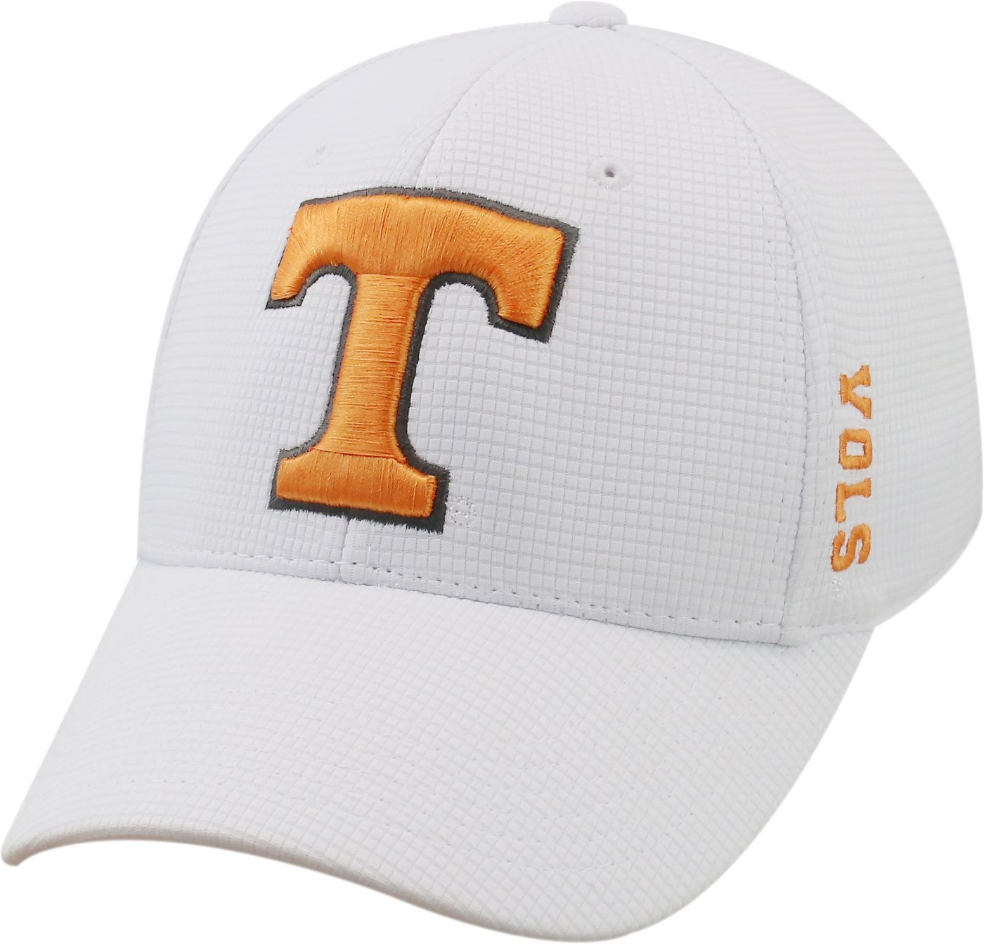 Top of the World Men's Tennessee Volunteers White Booster Plus 1Fit Flex Hat