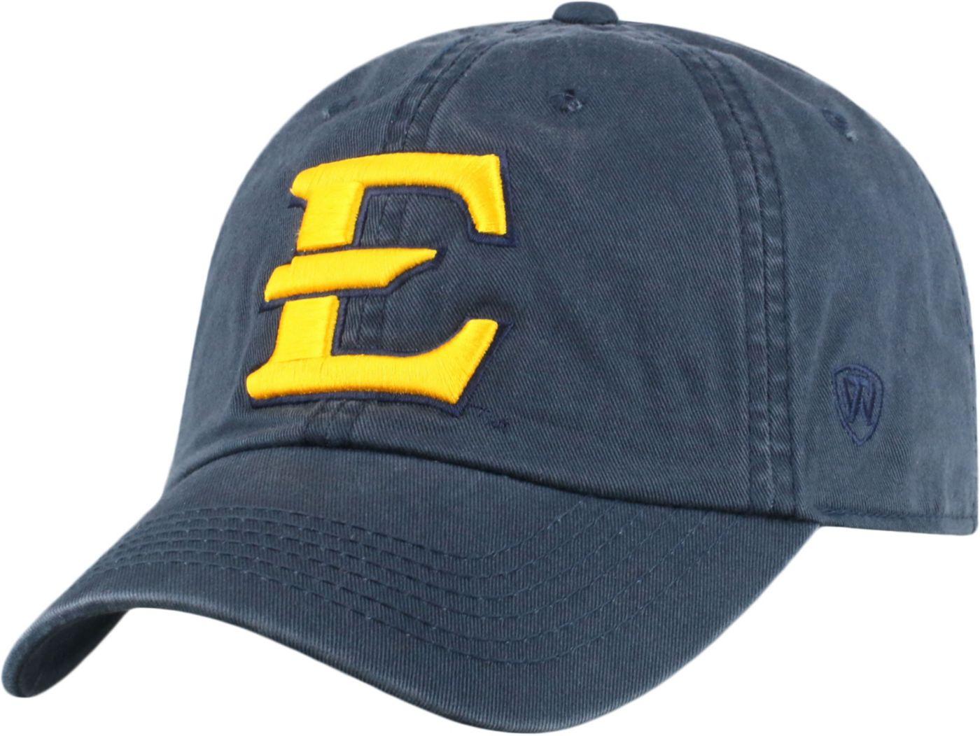 Top of the World Men's East Tennessee State Buccaneers Navy Crew Adjustable Hat
