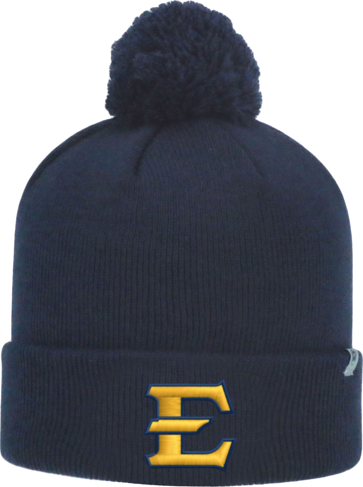Top of the World Men's East Tennessee State Buccaneers Navy Pom Knit Beanie