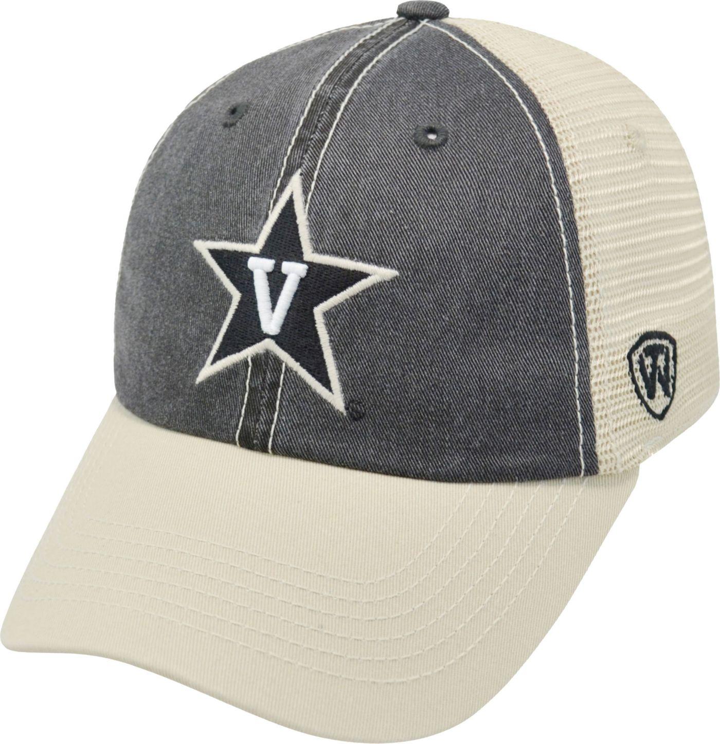 Top of the World Men's Vanderbilt Commodores Black/White Off Road Adjustable Hat