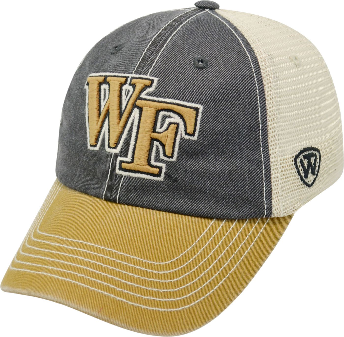 Top of the World Men's Wake Forest Demon Deacons Black/White/Gold Off Road Adjustable Hat