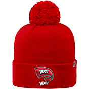 Top of the World Men's Western Kentucky  Hilltoppers Red Pom Knit Beanie