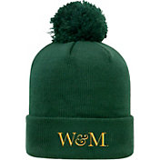 Top of the World Men's William & Mary Tribe Green Pom Knit Beanie