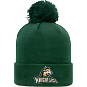 Top of the World Men's Wright State Raiders Green Pom Knit Beanie