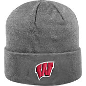 Top of the World Men's Wisconsin Badgers Grey Cuff Knit Beanie