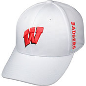 Top of the World Men's Wisconsin Badgers White Booster Plus 1Fit Flex Hat