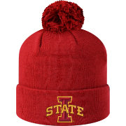 Top of the World Men's Iowa State Cyclones Cardinal Pom Knit Beanie