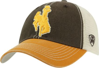 Top of the World Men's Wyoming Cowboys Brown/Gold/White Off Road Adjustable Hat