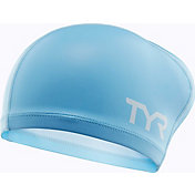 TYR Adult Long Hair Silicone Comfort Swim Cap