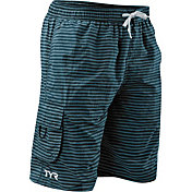 TYR Men's Stripe Challenger Swim Shorts