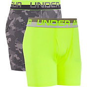 Under Armour Boys' Camo Printed HeatGear Boxer Briefs 2 Pack