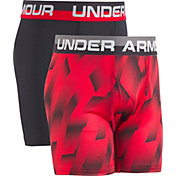 Under Armour Boys' Sandstorm Printed HeatGear Boxer Briefs 2 Pack