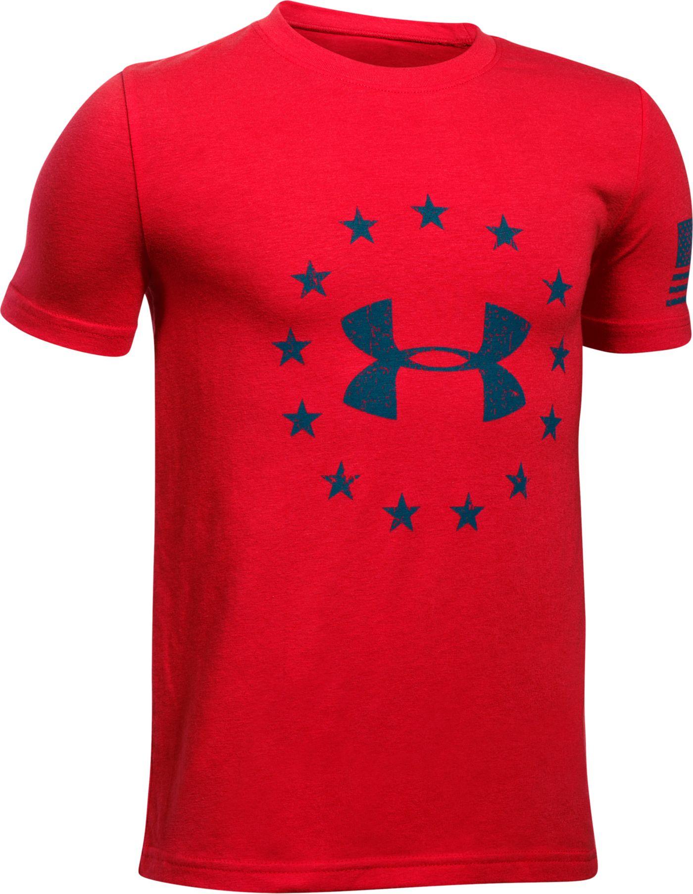 Under Armour Boys' Freedom Logo Short Sleeve T-Shirt