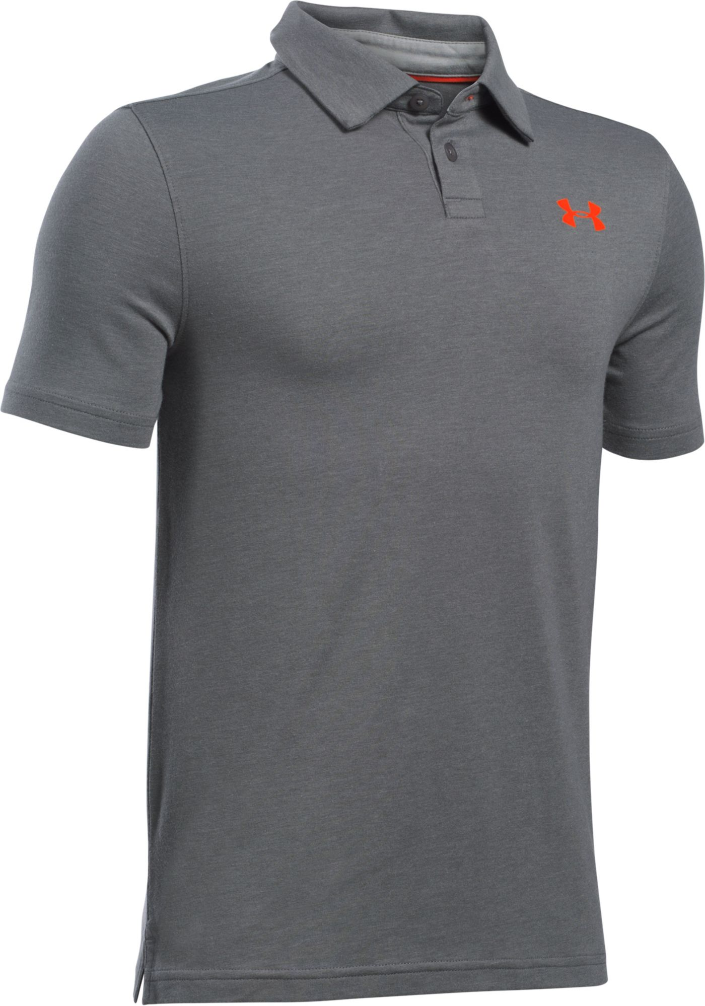 Under Armour Boys' Charged Cotton Heather Polo
