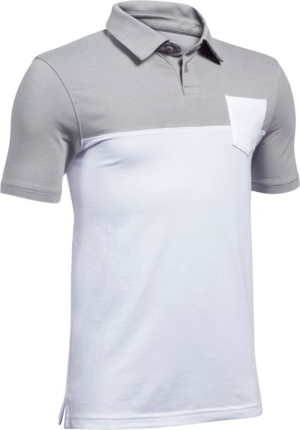 Under Armour Boys' Charged Cotton Blocked Polo