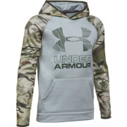 Under Armour Boys' Armour Fleece Camo Blocked Hoodie
