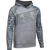 Under Armour Boys' Armour Fleece Novelty Big Logo Hoodie