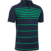 Under Armour Boys' Threadborne Brassie Stripe Golf Polo