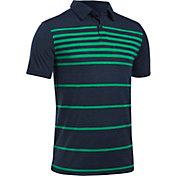 Under Armour Boys' Threadborne Brassie Stripe Golf Polo