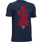 Under Armour Boys' No Plate Like Home Graphic Baseball T-Shirt