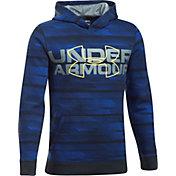Under Armour Boys' Threadborne Big Logo Hoodie