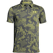 Under Armour Boys' Threadborne Camo Golf Polo