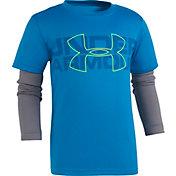Under Armour Little Boys' Wordmark Slider Long Sleeve Shirt