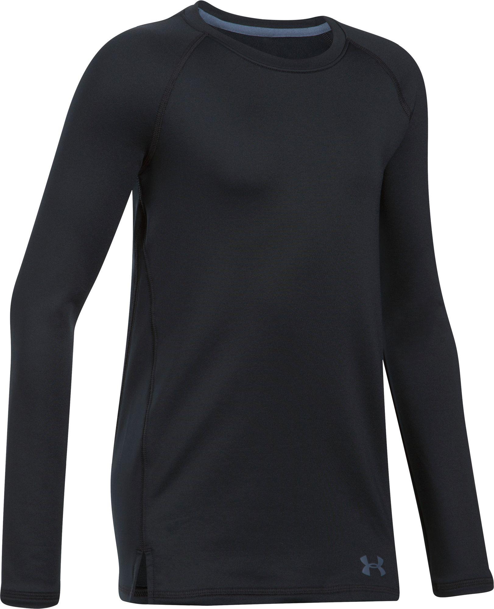 Under Armour Girls' ColdGear Crew Shirt, Girl's, Size: XS, Black thumbnail