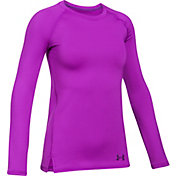 Under Armour Girls' ColdGear Crew Shirt