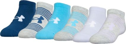 Under Armour Girls' Essential Low Cut Liner Socks 6 Pack